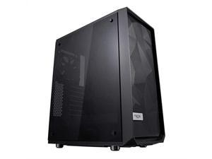 Meshify C - Compact Computer Case - High Performance Airflow/Cooling - 2X Fans Included - PSU Shroud - Modular Interior - Water-Cooling Ready - USB3.0 - Tempered Glass - Blackout