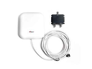 Wide Band 698-2700 MHz Wall Mount Panel Antenna with 2 Way Splitter N-Female Connectors,50FT N-Male to N-Male Coaxial Cable for Signal Booster,Compatible with All US Carriers 2G/3G/4G LTE
