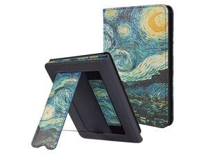 Kindle Paperwhite Case with Stand Durable PU Leather Smart Cover with Auto Sleep Wake Hand Strap Feature ONLY Fits All New Kindle Paperwhite 10th Generation 2018 ReleasedStarry Sky