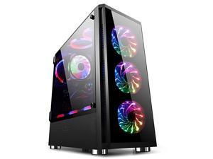 FIELD Z20 Computer Case ATX Gaming PC Case EATXATXITXMATX Desktop Computer Shell Cases with Side Openable Window
