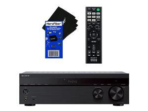 Sony Bluetooth Connectivity 2 Channel Stereo Receiver with Turntable Input 4 Audio Inputs AB Speaker Function FM Tuner + Remote Control +  Ultra Gentle Cleaning Cloth