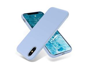 for iPhone Xs Max Case Silky and Soft Touch Series Premium Soft Silicone Rubber FullBody Protective Bumper Case Compatible with Apple iPhone Xs Max 65 inch Light Blue