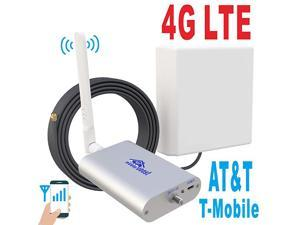LTE ATT TMobile 65dB 700MHz Cell Phone Signal Booster for Home and Office Band 1217 FDD LTE Mobile Phone Signal Amplifier Including 45 Feet RG58 Cable Repeater Full Kit