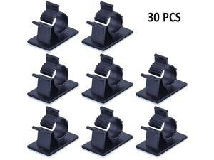 Clips SelfAdhesive Wire Holder Cord Organizer Case Desk Wall s Line Management Clamps with Adjustable Pack 30