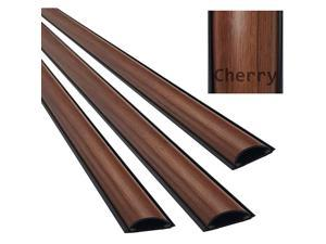 StudioSaver Medium Cord Cover Wooden Finish Wire Cable Protector Wood Grain 536quot 3 Feet 3 Pack