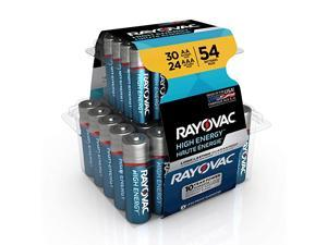 AA Batteries & AAA Batteries Combo Pack, 30 AA and 24 AAA (54 Battery Count) (AL-54PP)