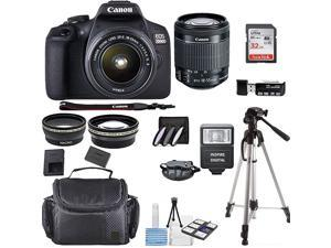 Canon EOS 2000D Rebel T7 Kit with EFS 1855mm f3556 III Lens + Accessory Bundle +  Deals Cloth