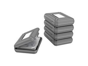 Portable 35 Inch Hard Drive Disk Protective Box Storage Case Cover for HDD External Hard Drive AntiStatic Shock Proof Gray Pack of 5