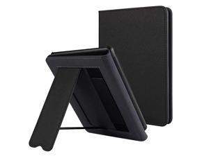 Kindle Paperwhite Case with Stand Durable PU Leather Smart Cover with Auto Sleep Wake Hand Strap Feature ONLY Fits All New Kindle Paperwhite 10th Generation 2018 ReleasedBlack