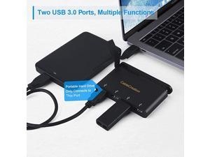 USB C Hub with Hidden CableCompatible with MacBook Air 2018 MacBook Pro 20192018 Dell XPS 13 Black
