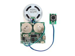 Recordable Sound Module Push Button Activated 8M Capacity Micro USB Button Cell Powered for DIY Audio Cards Music Greeting Card Creative Gifts