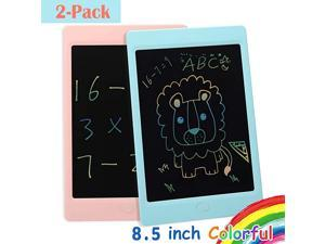 2Pack LCD Writing Tablet Colorful Screen 85 inch Electronic Writing amp Drawing Doodle Board Kids Drawing Tablet Erasable Ewriter for Kids and Adults