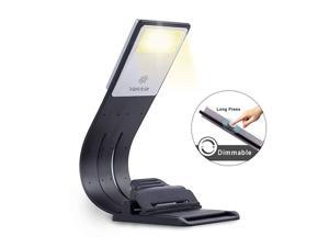 Bookmark Book Light Clip on Reading Lights for Books in Bed Infinite Brightness Levels Soft Light Easy for Eyes Builtin USB Cable Easy Charge Perfect for Avid Readers