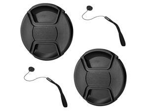 2 Pack 82mm Center Pinch Lens Cap for Nikon Canon Sony DSLR Compatible with Canon EF 16-35mm f2.8L III USM/EF 24-70mm f2.8L II USM,Nikon Nikkor Z 24-70mm f2.8 S Lenses with 82mm Filter Thread