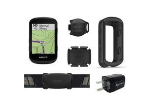 Garmin Edge 530 GPS Cycling Computer with included original Garmin Silicone Case and  Wall Charging Adapter Bundle