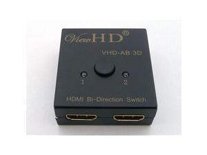 HDMI Bi-Directional 2x1 or 1x2 A-B / AB Switch | Model: VHD-AB:3D