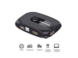 KVM Switch Unnlink KVM Switch 2 Ports FHD 1080P 60Hz with USB 20 Cable Sharing Monitor Printer Keyboard Mouse for 2 Computers Laptops PS4 PS3 Printer Set Top Box Projector