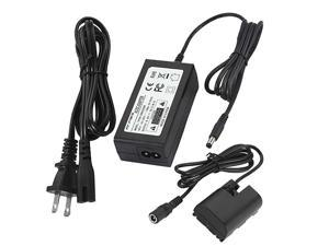 ACK-E6 DR-E6 AC Power Supply Adapter and LP-E6 LP-E6N Dummy Battery Coupler kit for Canon EOS R, R5, 56, 60D, 70D, 80D, 90D, 6D, 7D, 5D Mark II III IV, 6D Mark II, 7D Mark II Cameras