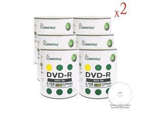 4.7gb/120min 16x DVD-R White Top Blank Data Video Recordable Media Disc (1200-Disc)