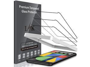 3 Pack Screen Protector Compatible with Google Pixel 4 Tempered Glass Easy Frame Installation 9H hardness Case Friendly