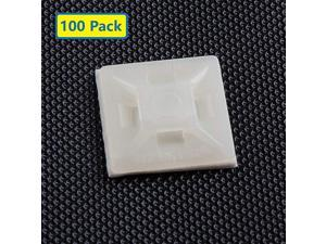 Adhesive Cable Tie Mounts 3M Strongly AdhesiveBacked Zip Tie Base Holders for Home Office Cable Wire Management21mm x 21mm White 100pack