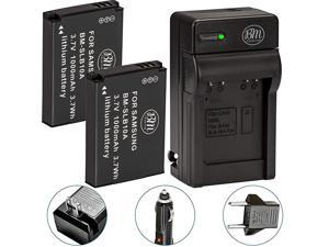 Premium Pack of 2 SLB10A Batteries and Battery Charger for Samsung EX2F HZ15W SL202 SL420 SL620 SL820 WB150F WB250F WB350F WB750 WB800F WB850F WB1100F Digital Cameras