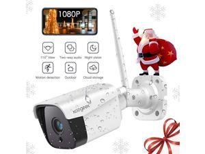 Outdoor Security Camera, Smart IP Camera 1080P Outdoor with Two-Way Audio, Activity Alert, Night Vision, Motion Detection,  IP Camera Waterproof WiFi Camera Compatible with Alexa 2.4Ghz