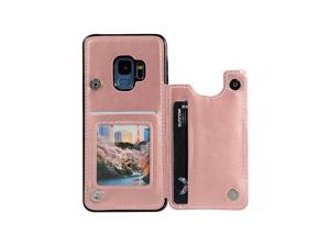 Sumsung Galaxy S9 Wallet Case Galaxy S9 Case Protective Cover with Card Slot Holder and PU Leather Magnetic Closure Case Compatible with Samsung Galaxy S9 58inch Screen PUPink