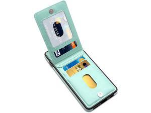 Galaxy S10 Plus Case Galaxy S10 Plus Card Holder Case Premium Leather Folio Flip Galaxy S10 Plus Wallet Case with Card Slots Shockproof Protective Case for Samsung Galaxy S10+ Mint