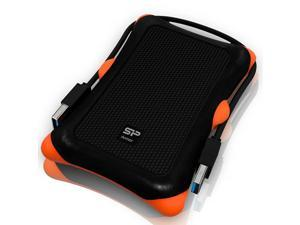 Power 1TB USBC USB 30 Rugged Portable External Hard Drive Armor A30 MilitaryGrade Shockproof for PC Mac and iPad Pro Black