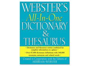 Webster All in One DictionaryThesaurus Hardcover 768 Pages
