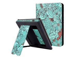 Kindle Paperwhite Case with Stand Durable PU Leather Smart Cover with Auto Sleep Wake Hand Strap Feature ONLY Fits All New Kindle Paperwhite 10th Generation 2018 ReleasedFloral