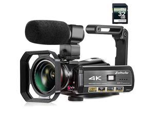Video Camera  4K Camcorder WiFi Ultra HD Vlogging Camera for YouTube 31 IPS Screen 30X Digital Zoom Night Vision Video Camera with Microphone Wide Lens 32GB Card 2 Batteries