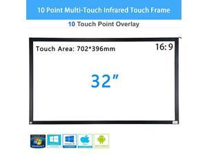 32 inch 10 Point MultiTouch Infrared Touch Frame IR Touch Panel 16 9 Infrared Touch Screen Overlay with USB Interface for LCDLED TV Display Presentation Kiosk Exhibitions Whiteboard