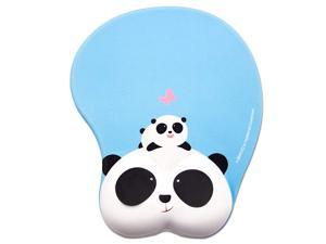 Panada Face Mouse Pad Non Slip Silicone Mouse Mat Wrist Rest Pad for Office Computer Laptop Panda