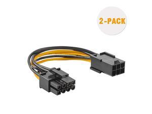 6 Pin to 8 Pin Pcie Adapter Cable  2Pack 6pin to 8pin PCIe Express Power Adapter Cable 4 Inches 10CM
