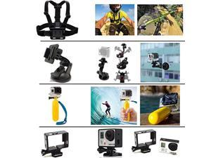 SB111111 Accessories Kit for Hero 5 Session Gopro Hero 4 Gopro Hero 3 Gopro Hero 2 and Gopro Hero HD 40 Items