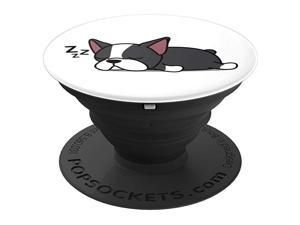 Funny Boston Terrier Dog Puppy Animal Lover Design Gift PopSockets PopGrip Swappable Grip for Phones Tablets