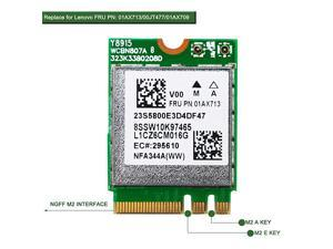 Band Wireless AC 1200Mbps Network Adapter for Laptop or Desktop PCsNGFF M2 WiFi CardM2 Bluetooth Wireless AdapterReplace Lenovo FRU PN00JT477 FRU PN01AX709 FRU04X6022