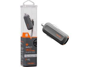 Car Charger with Apple Lightning Cable Dash Port R1240   Fast Charging at Max Rate No FrayDurability Universally Compatible with Apple Devices iPhone and iPad   Grey