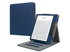 Flip Case for Kindle Oasis 10th and 9th Gen 2019 2017 Release Multi Angle Hands Free Viewing Stand Cover Auto Wake Sleep Function for 2017 Version Only Not for 2019 Version Navy
