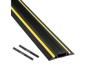 Floor Cord Cover Heavy Duty Cable Protector FC83H 6 Foot Linkable Protect Cords and Prevent a Trip Hazard Cable Cavity 1 316 W x 38 H Black and Yellow
