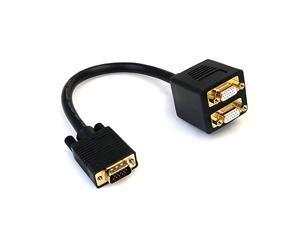 com 1 ft VGA to VGA Splitter Cable MF Dual Monitor Video Cable Splitter VGASPL1VV