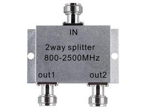 Power Splitter 8002500MHz Signal Divider with N Female Connector for Mobile Cell Phone Signal Booster Amplifier 4 Way