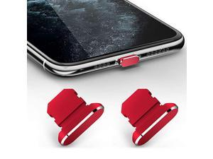 2 Pack Anti Dust Plugs for iPhone 11 iPhone 11 Pro Max Dust Cover 8 Pin Dust Plug with Mini Storage Box iPhone Charging Port Plugs Compatible with iPhone 11 ProXS MaxXR 8 Plus Red