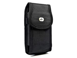 Vertical Pouch for Flip Phone or Smartphone Up to 425x225x085 Inch in Dimensions a Heavy Duty Rugged Nylon Canvas Carrying Case with Belt Clip HookandLoop Fastener