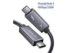 Thunderbolt 3 Cable TB3 3.3ft/40Gbps/5K@60Hz(USB-C to USB-C),  40Gbps Data Transfer/ 100W 5A Charging Type-C Compatible with External SSD, eGpu, USB-C Docking Station, MacBook, iPad Pro 2021-Grey
