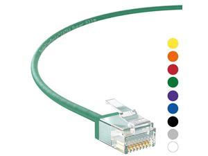 Ethernet Cable CAT6A Super Slim Cable UTP 10 FT (10 Pack) - Green - Professional Series - 10Gigabit/Sec Network/High Speed Internet Cable, 550MHZ, 32AWG