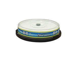 OQBDRE02LT10 2X 25 GB BDRE Single Layer BluRay ReWritable Logo Top 10Disc Spindle