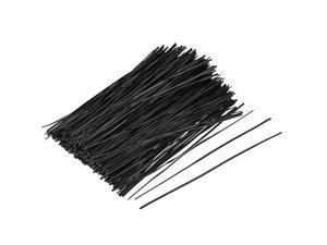 Metallic Twist Ties 150mmx18mm Plastic Black Cable Cord Ties 500pcs
